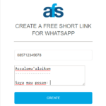 Membuat Membuat Short Url Chat Whatsapp